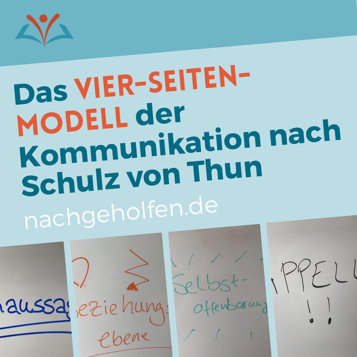 Alles Zum Vier Seiten Modell Von Schulz Von Thun Nachgeholfen De Schulz Von Thun Kommunikation Rhetorik