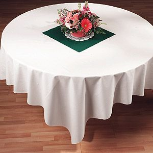 White Linen Like Paper Table Covers  - 82 Inch (24 for $94.95)