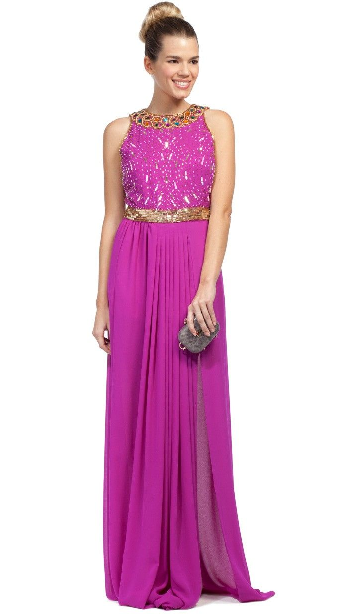 Virgos-Louge-vestido-largo-fuxia-alquiler-dresseos | ideas ...