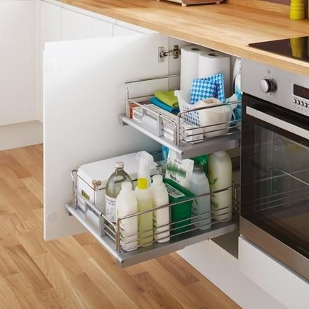 Internal Pull Out Drawer Kitchen Storage Solutions Howdens Joinery