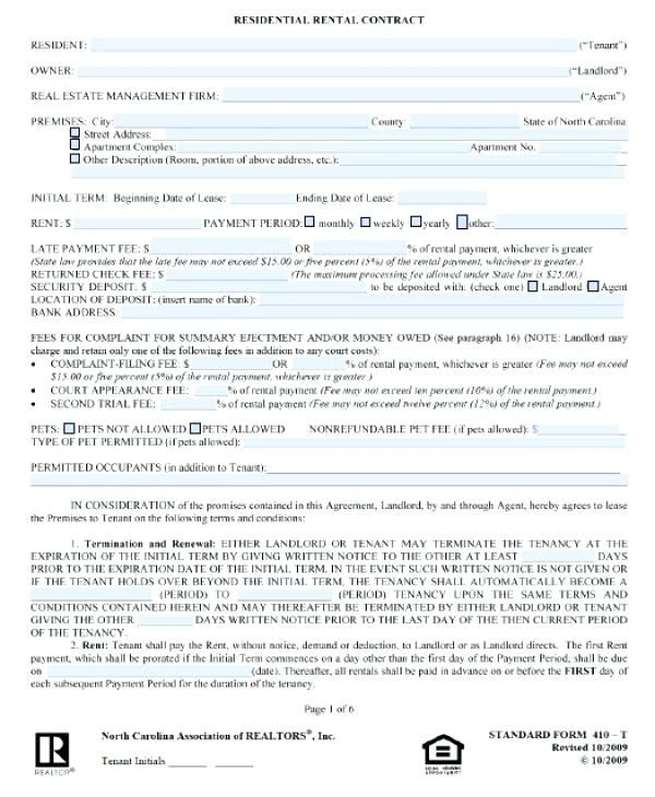 lease agreement template free north residential word doc