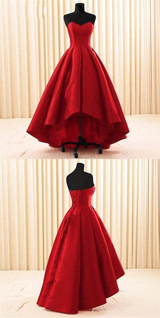 Frauen-Schatz-kurzes vorderes langes rückseitiges eine Linie hohes niedriges Abschlussball-Kleid G901 #makeupprom
