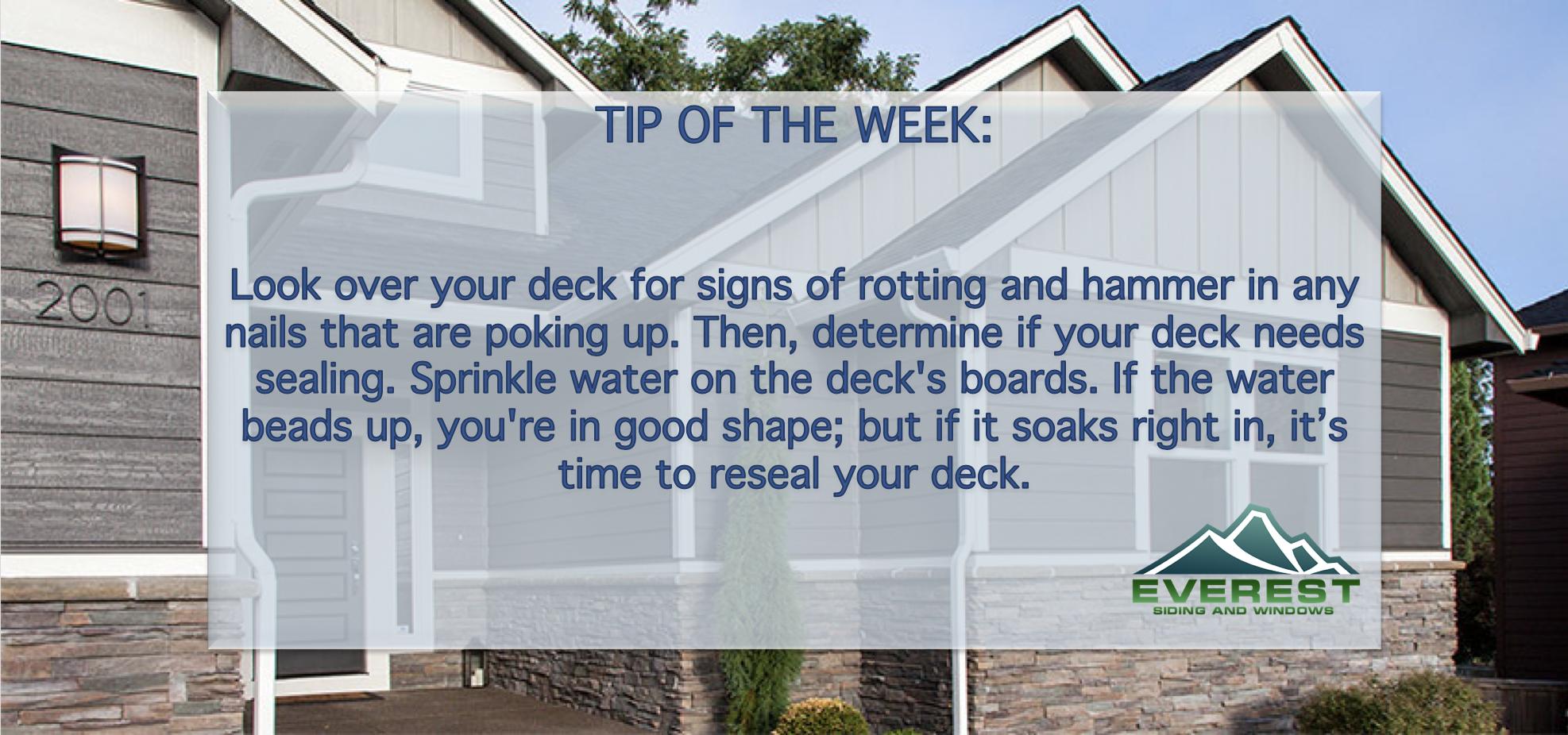Useful Tip If You Have A Deck Houston Cypress Texas Hardieplank Lpsmartside Siding Windows Roofing Homeim Window Vinyl Hardie Plank Window Well