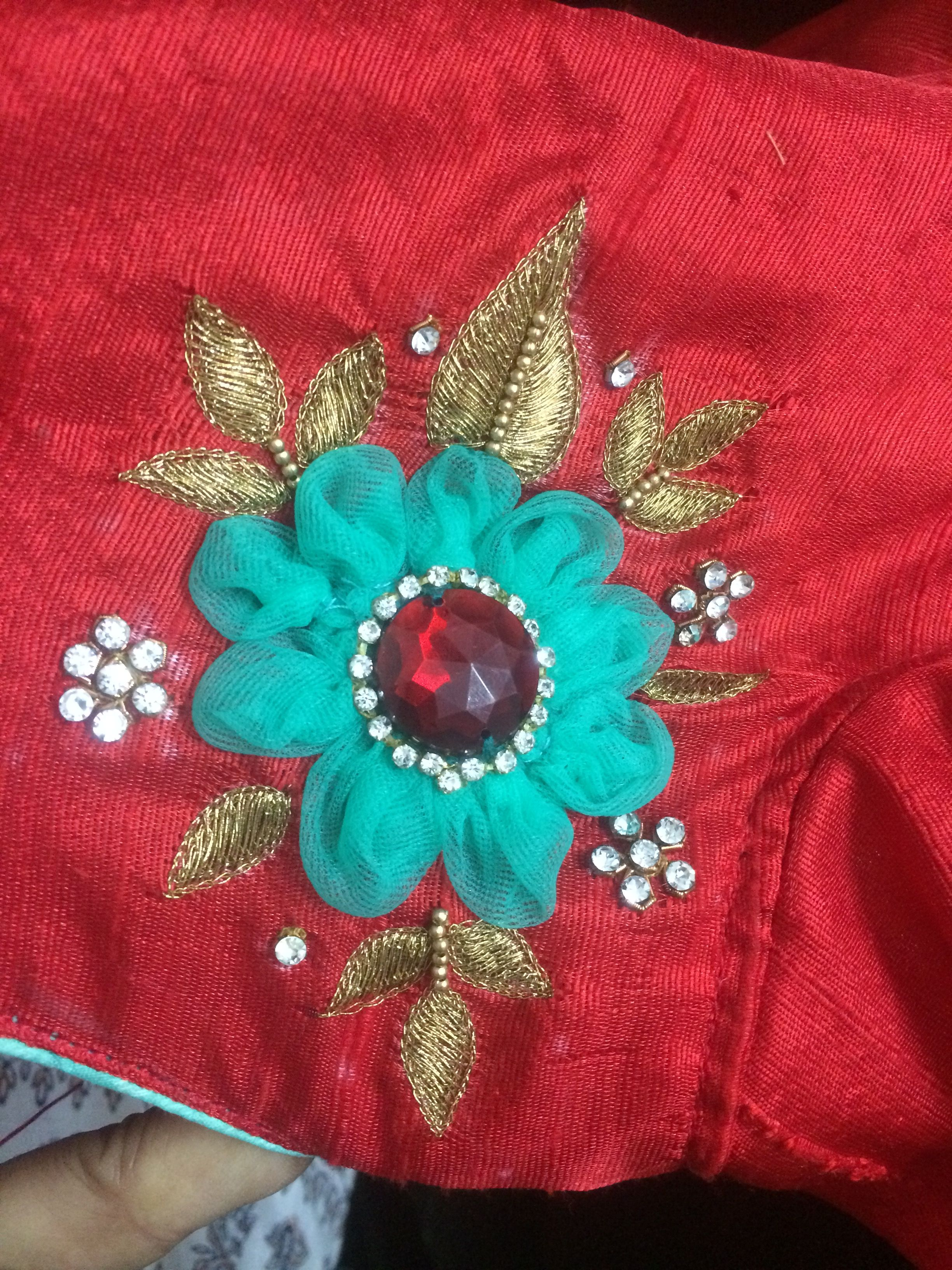 One of my own designs blouse pinterest embroidery saree and
