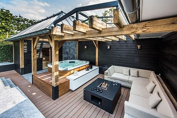 opulent design retractable roof. Decorate a Luxury Backyard Drenched in Flowing Opulence