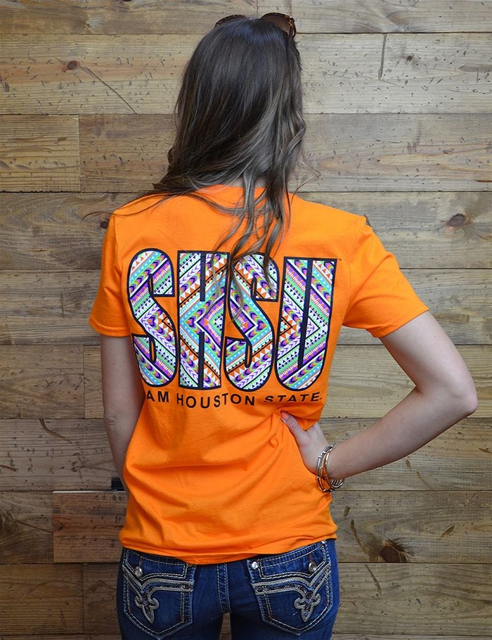 Bearkats, get wild with our geo printed Sam Houston tee!