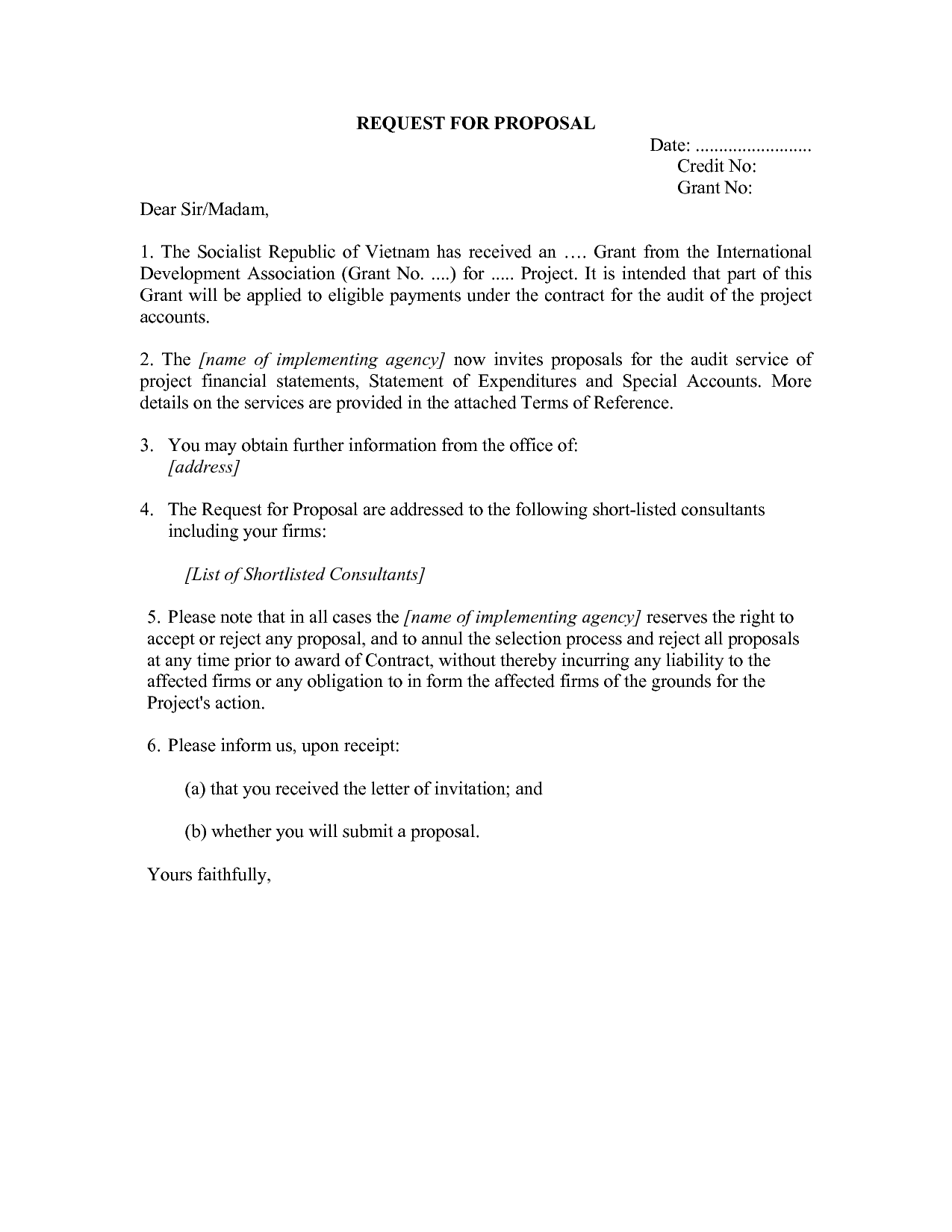 Proposal Letter To A Client