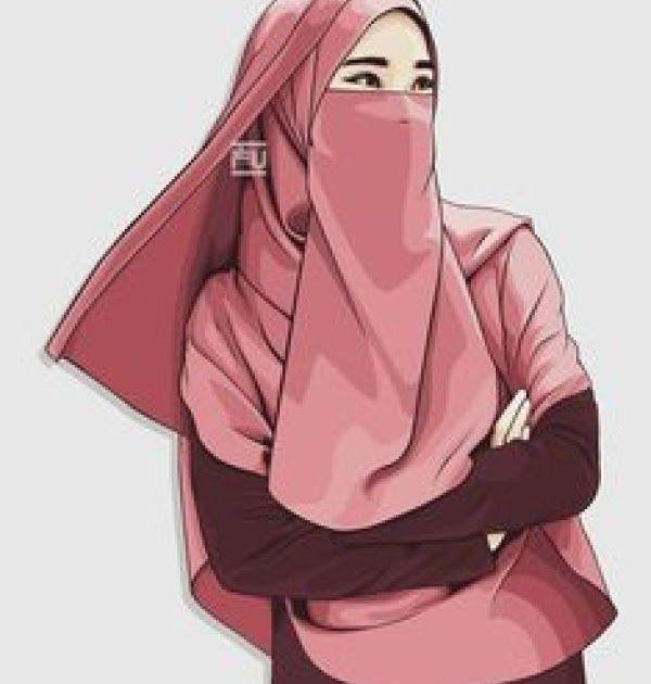 30 Gambar Kartun Muslimah Bercadar Bergerak Di 2020 Kartun Gambar Sketsa
