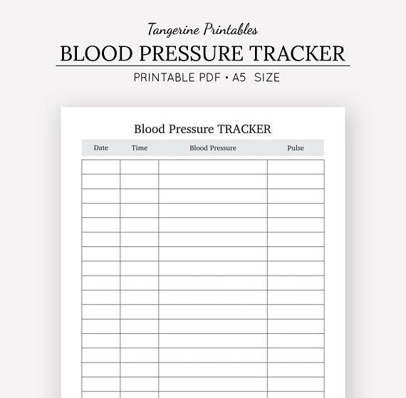 Blood Pressure Tracker Health Journal A5 A4 US Letter Half