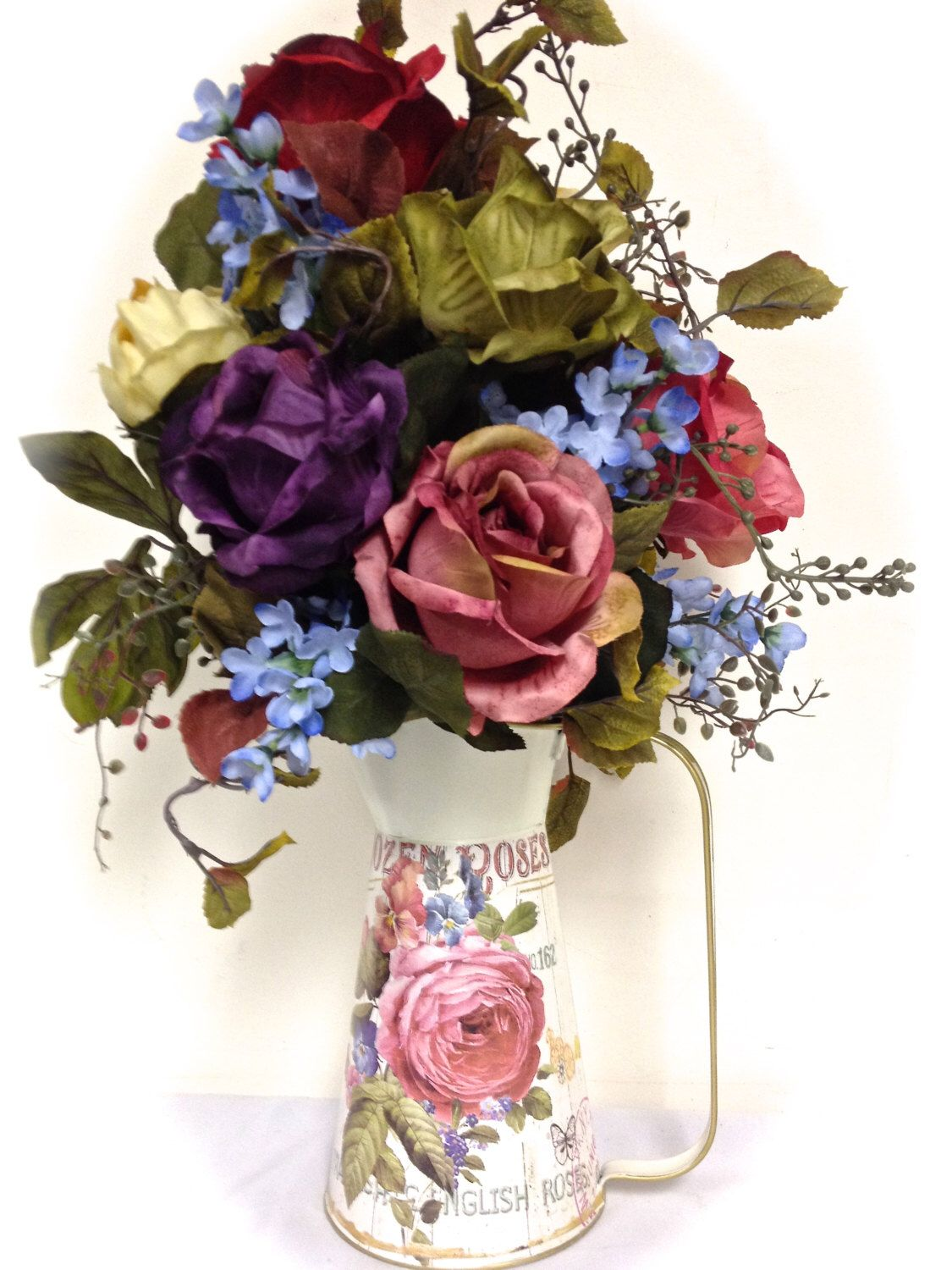 Free shipping tall farmhouse arrangement rose floral