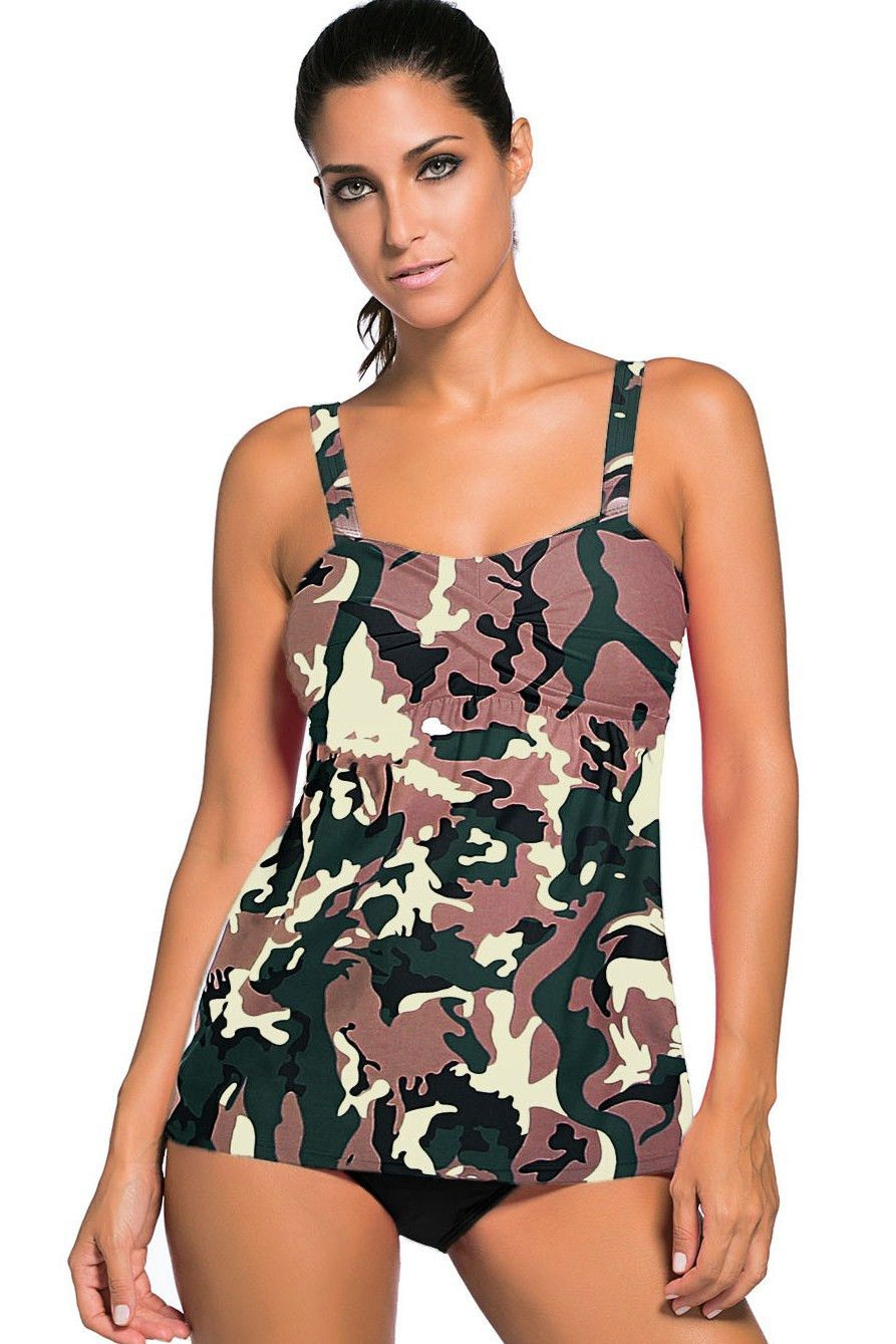 3e05d72fde662 Camouflage Print 2 Piece Swing Push Up Tankini Swimsuit https://www.modeshe