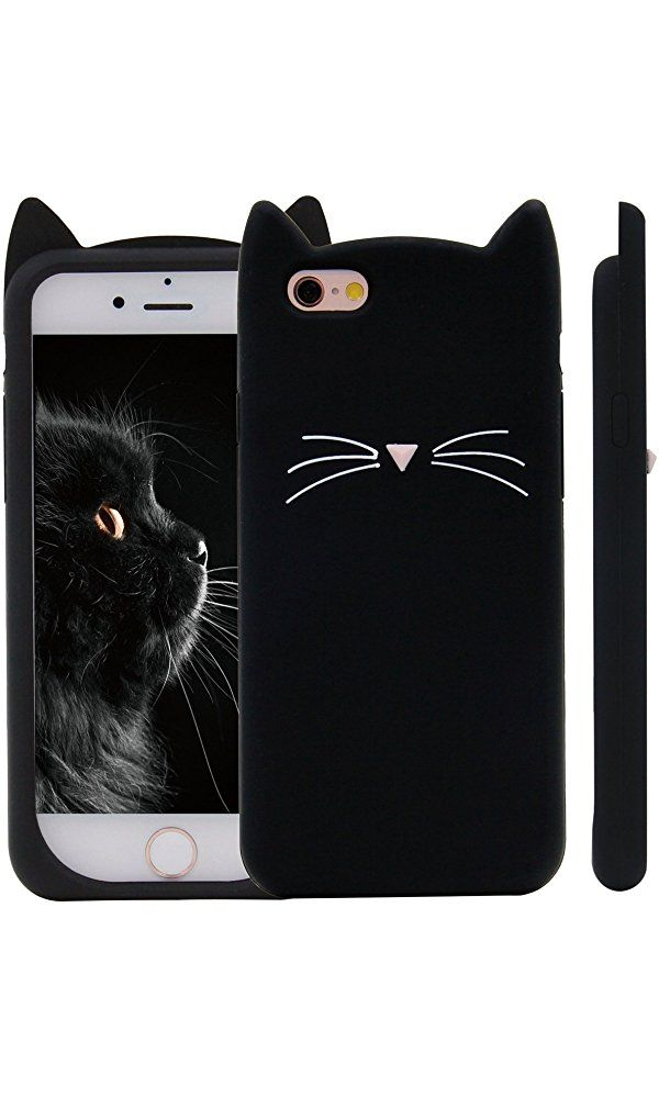 84614878d07ebf IPhone SE Case, MC Fashion Cute 3D Black MEOW Party Cat Kitty Whiskers Soft  Silicone Case for iPhone 5/5S/SE (Cat Whiskers) Best Price
