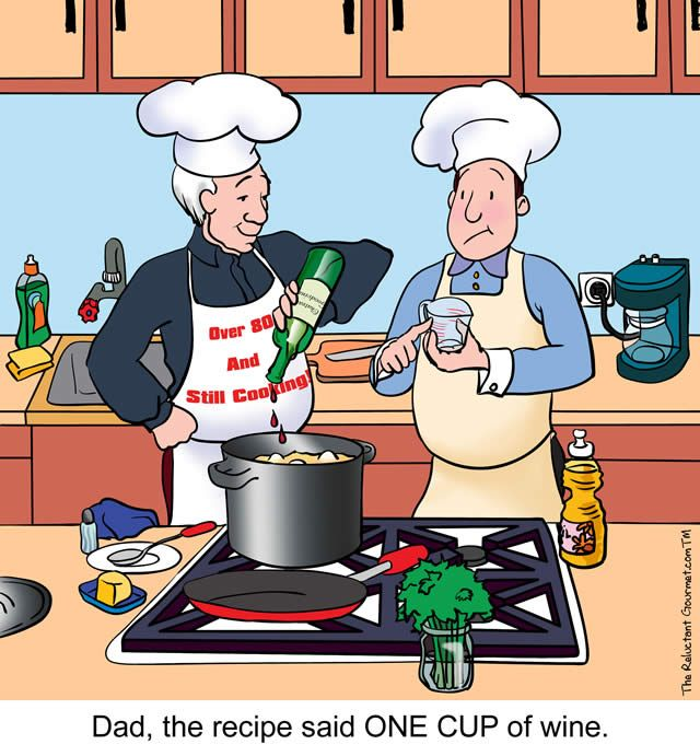 This one depicts my dad and I cooking. He loved to ...