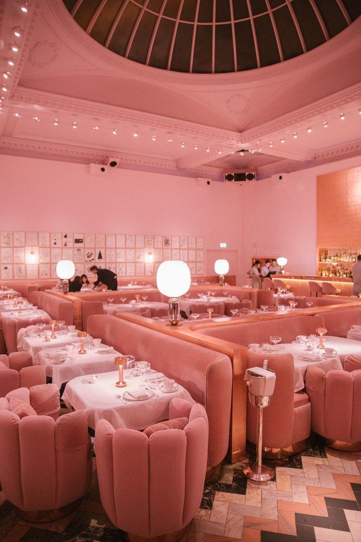 Living Room Sketch: Pink Room, Restaurant Interior Design, Millenial Pink