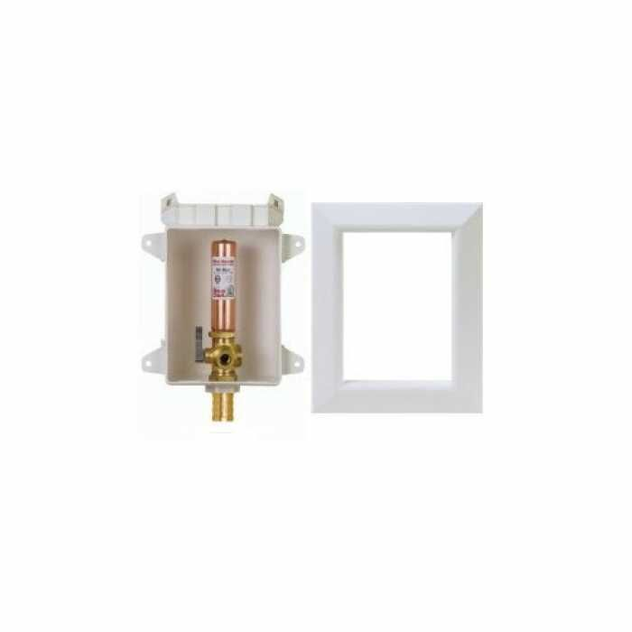 Ox Box Toilet/Dishwasher Outlet Box w/ Water Hammer Arrestor, 1/2
