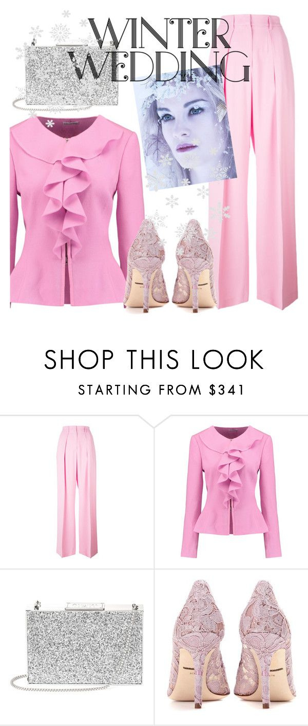 """""""Untitled #4601"""" by julinka111 ❤ liked on Polyvore featuring MSGM, Oscar de la Renta, Aspinal of London and Dolce&Gabbana"""
