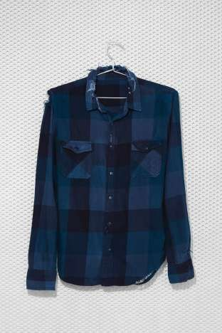 After Party Vintage Tried And True Flannel navy