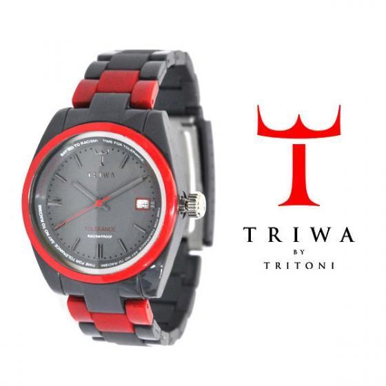 TRIWA(トリワ) リストウォッチ 腕時計 Tolerance グレー×レッド【送料無料】wc-triwa-028