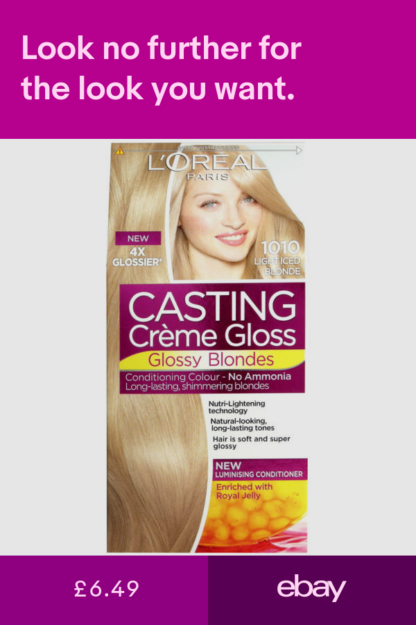 L Oreal Casting Creme Gloss Light Iced Blonde 1010 Ebay Loreal Loreal Hair Hair Colourants