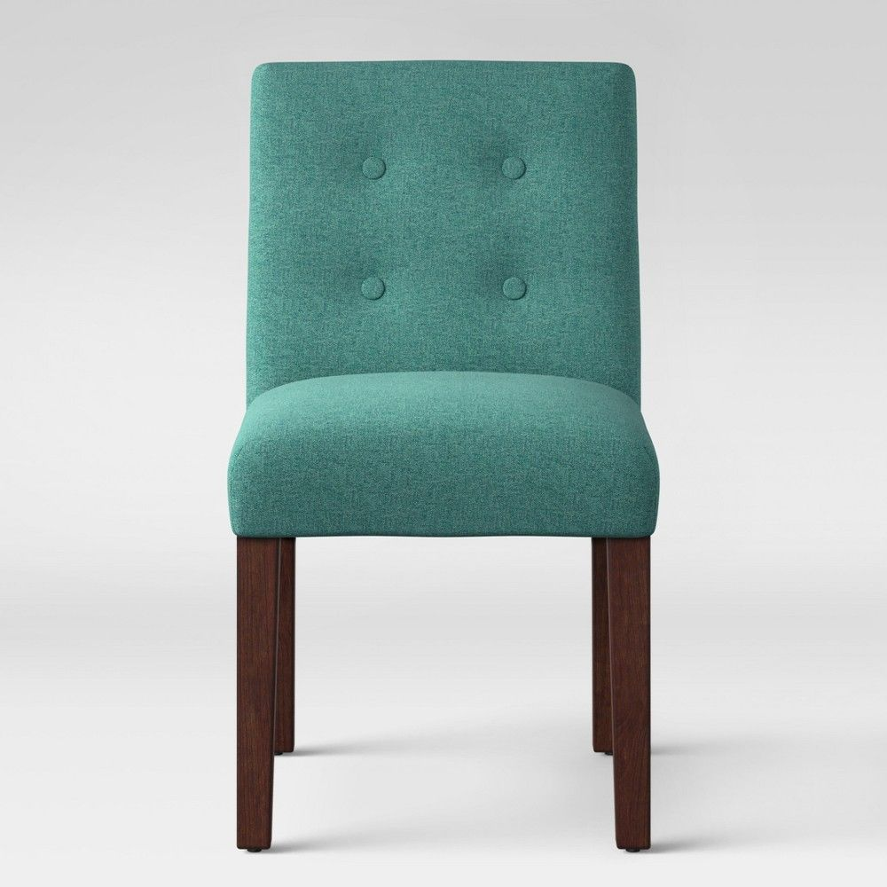 Ewing Modern Dining Chair With Buttons Teal Project 62 In 2020