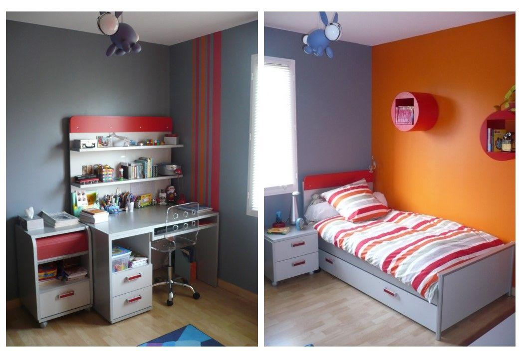 Chambre Enfant Grise Rouge Et Orange Avec Images Chambre