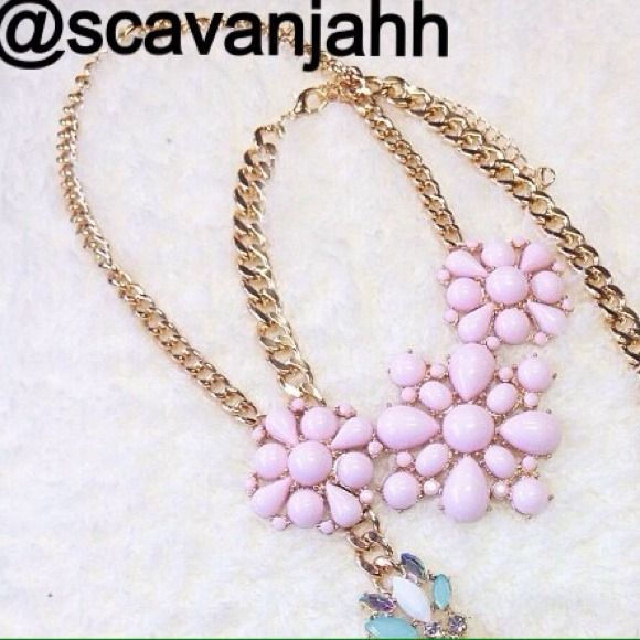 """Spotted while shopping on Poshmark: """"NEW Pastel love floral statement necklace""""! #poshmark #fashion #shopping #style #Jewelry"""