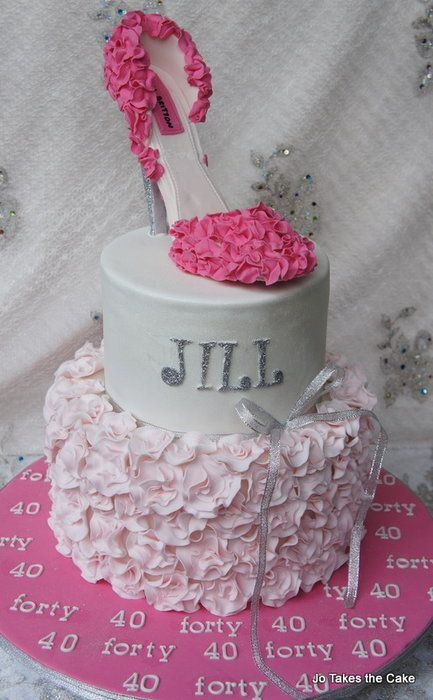 Pink with a touch of sparkle Cake
