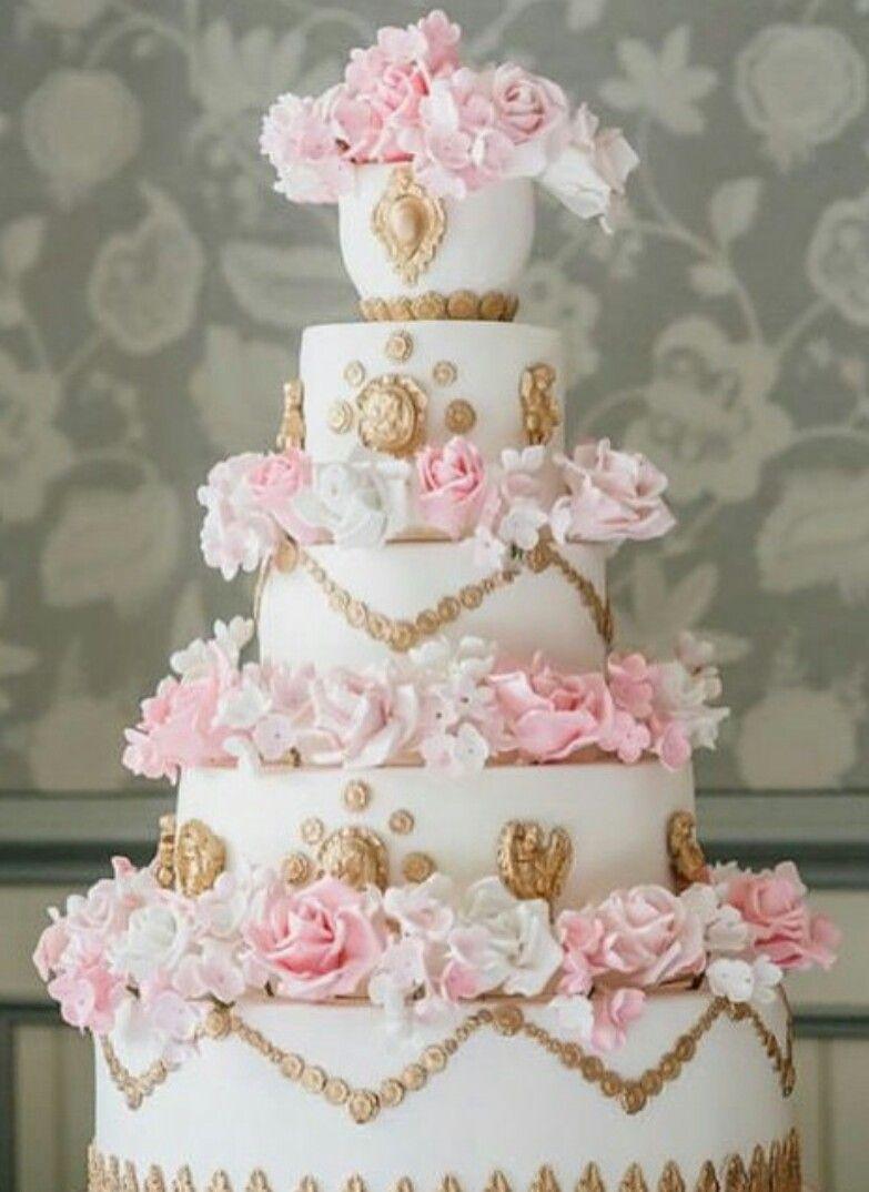 Pastel blanco con flores rosas tortas pinterest cake wedding