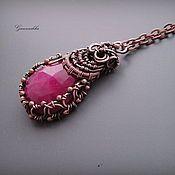 "Handmade Jewelry. Fair Masters - handmade pendant ruby ""Victoria"". Handmade."