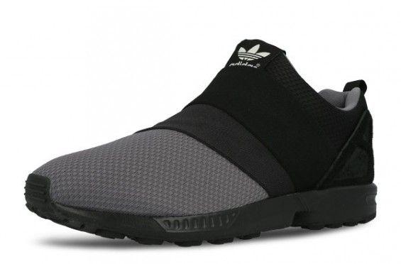 8003c6095880 adidas Originals ZX Flux Slip On Granite Carbon Core Black 5 ...