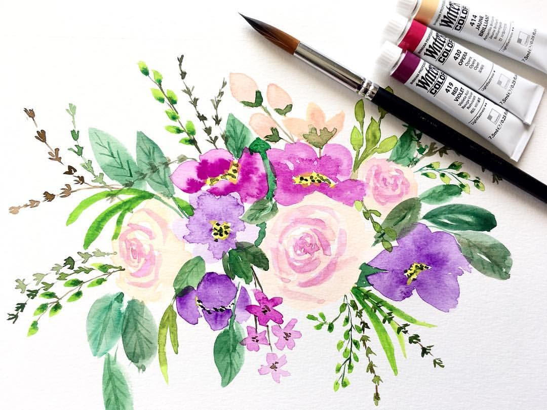 May Flowers Watercolor Watercolour Watercolorflowers