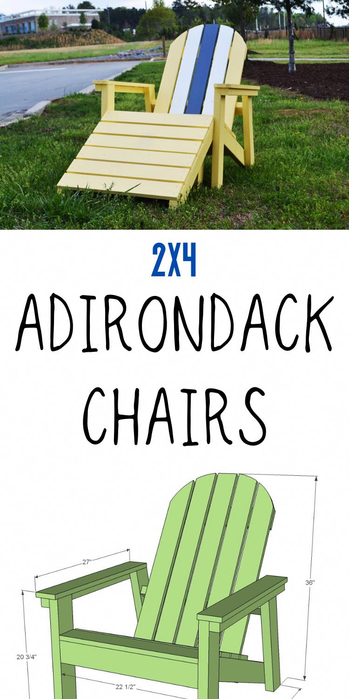 2X4 Adirondack Chair Plans 2x4 diy diyfurniture
