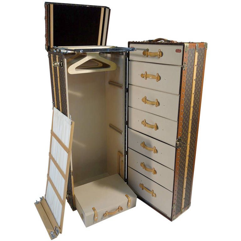 louis vuitton monogramme huge wardrobe trunk malle armoire from a unique collection of antique