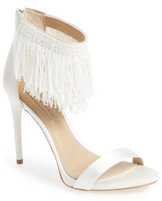1486bcaeb3d2 BCBGMAXAZRIA  Devine  Ankle Strap Sandal White High Heel Sandals