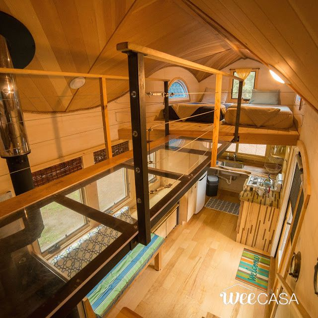 Places Available For Rent: The Pequod: An Eye-catching Tiny House With A Curved Roof