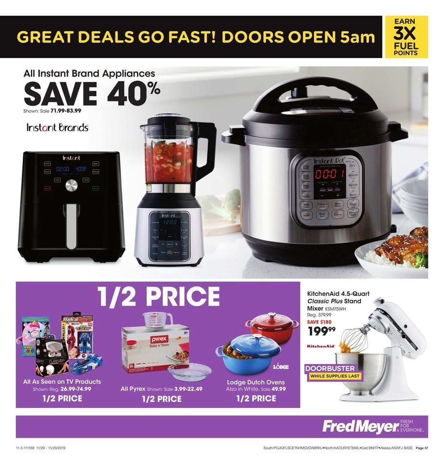Fred Meyer Black Friday Ad Scan Deals And Sales 2019 Fred Meyer Instant Pot Pressure Cooker Black Friday Ads