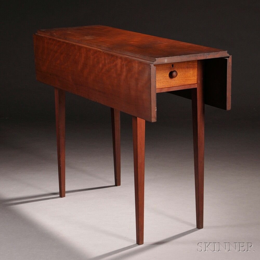 Shaker Cherry And Butternut Drop Leaf Table Sale Number 2731m