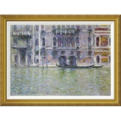 "Global Gallery 'Palazzo da Mula, Venice' by Claude Monet Framed Painting Print Size: 27.24"" H x 36"" W x 1.5"" D"