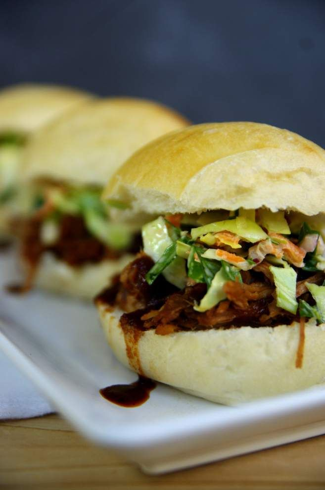 ADVOCATE-TESTED RECIPE Pulled Pork Sliders with ColeslawMakes 24 servings. Recipe is by Teresa B. Day. 2 tablespoons packed brown sugar1 tablespoon salt1 tablespoon ground mustard1 tablespoon black pepper1 tablespoon cumin1