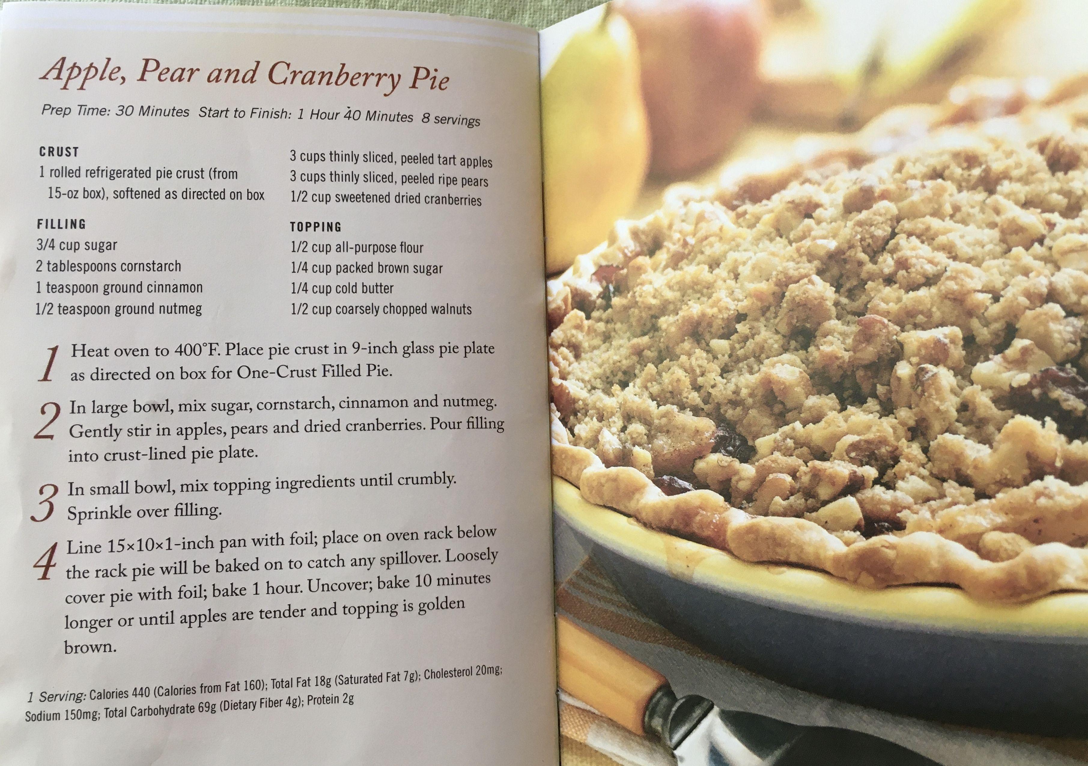 Pin by Eva Martinez on Sweet Treats in 20   Cranberry pie ...