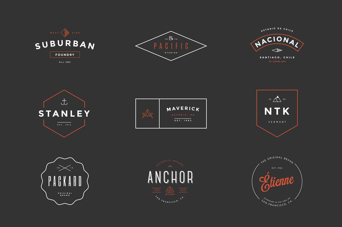 Hipster Vintage Logo Pack | Logos, Shape and Creative