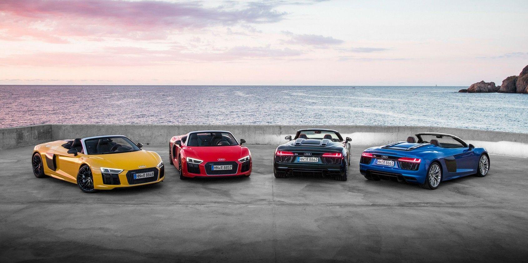 2020 audi r8 spyder sports car