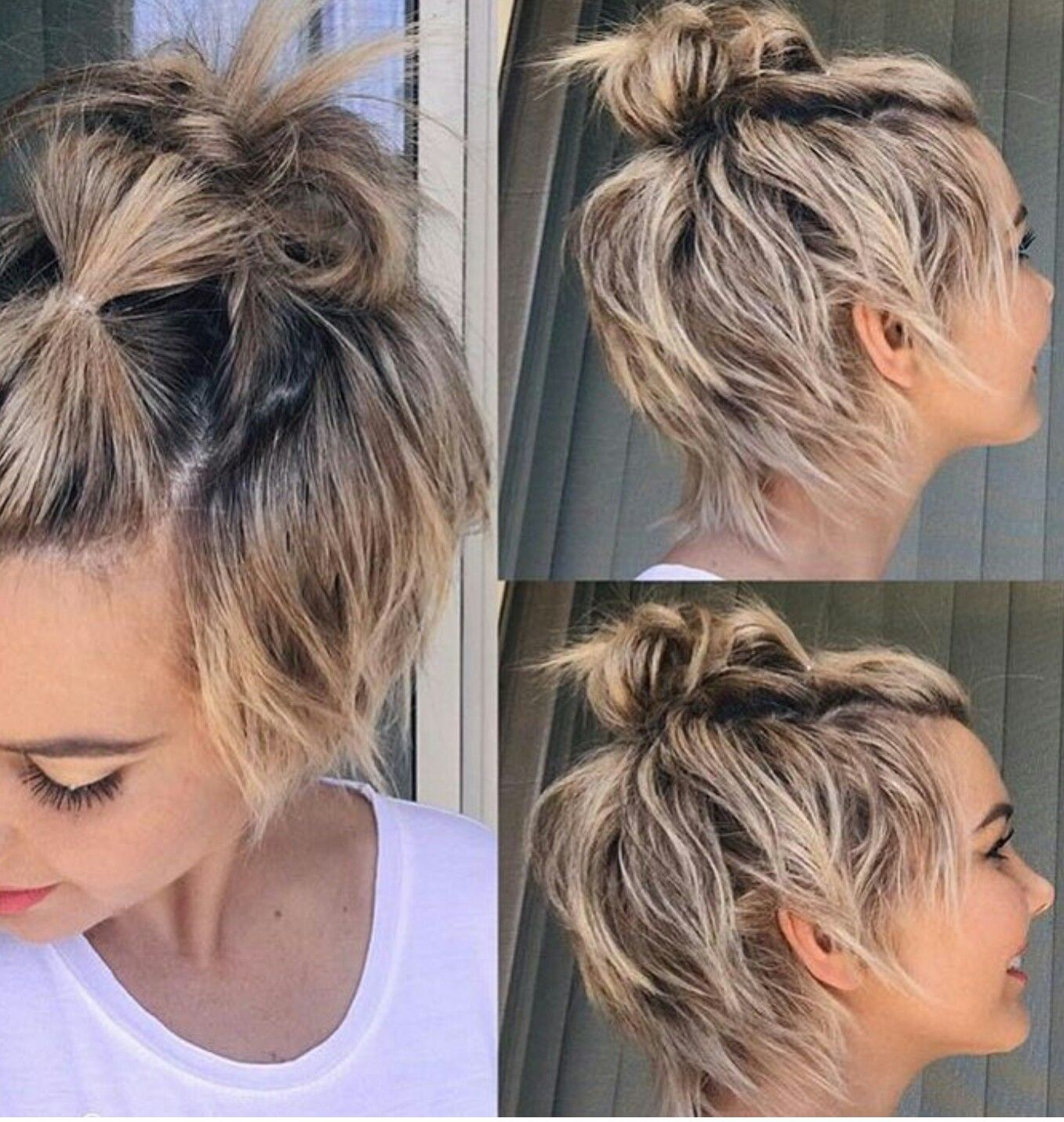 Pin By Tracy Stachovich Hunt On Hair Styles Short Hair Styles Growing Out Short Hair Styles Growing Out Hair