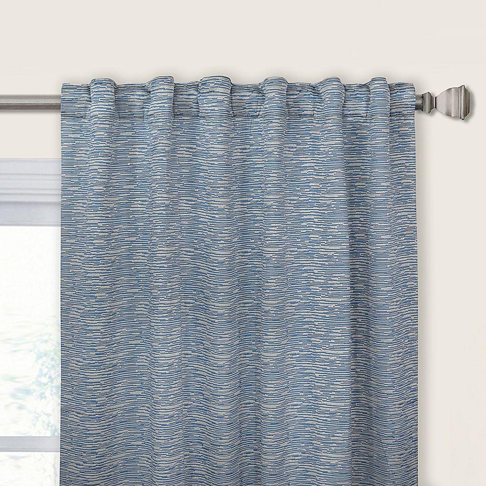 Keith 108 Rod Pocket Back Tab Window Curtain Panel In Blue