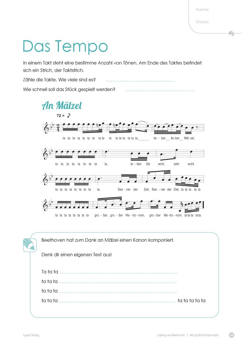 4 große Komponisten. Klassik in der Grundschule | Pinterest ...
