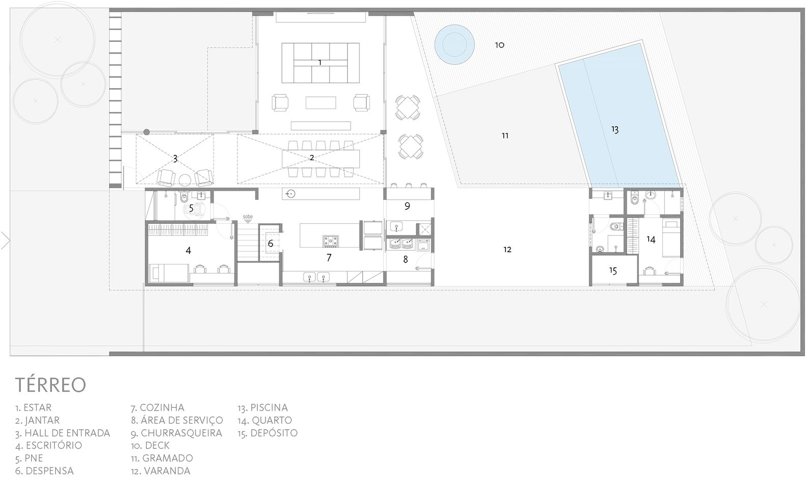 Gallery Of Bentes House Coda Arquitetos 24 Floor Plans Ground Floor Plan House