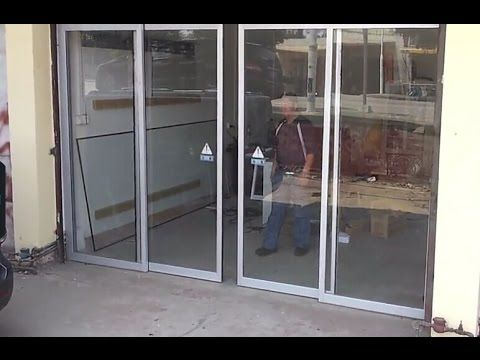 Small Office With A Automatic Sliding Glass Door Make A Different Feel Sliding Glass Door Glass Door Small Office
