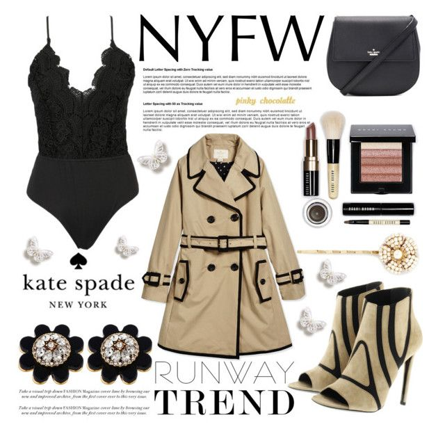 """""""#57 Sixty Second Style - NYFW After Party: 12/09/15 (WGC)"""" by pinky-chocolatte ❤ liked on Polyvore featuring Kate Spade, Balenciaga, Bobbi Brown Cosmetics and Miriam Haskell"""