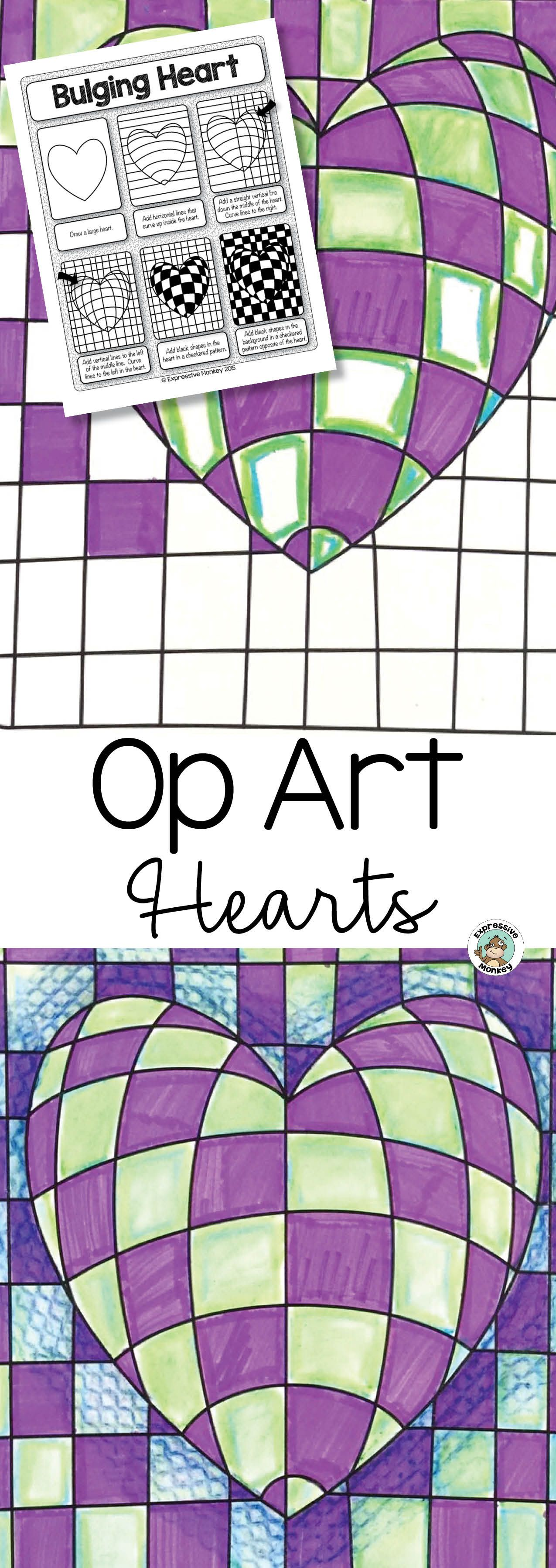 Op Art Hearts