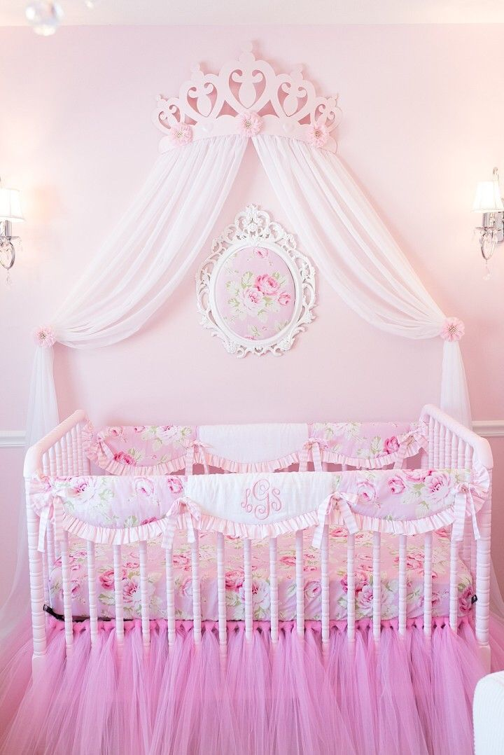 Pink Floral Nursery Desert Rose Crib Collection From New Arrivals